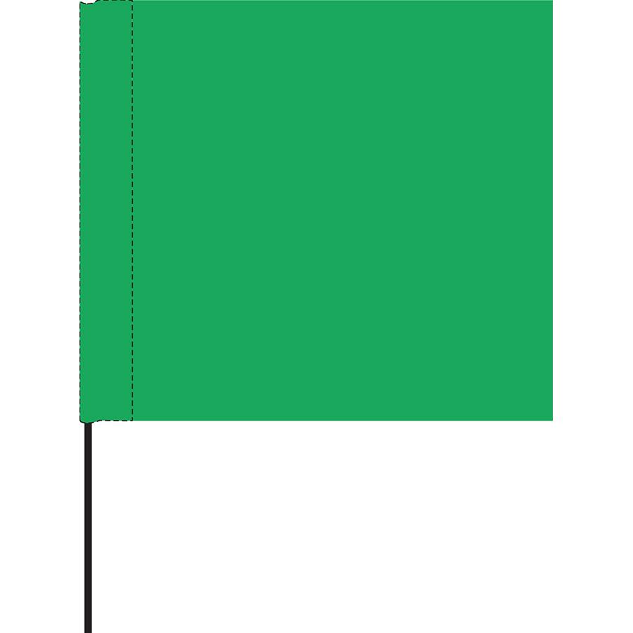 Green Marking Flag