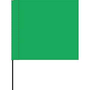 Green Marking Flag