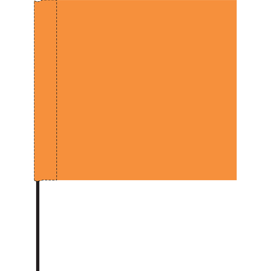 Orange Marking Flag