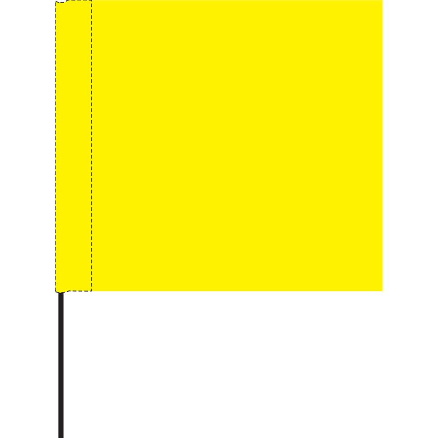 Yellow Marking Flag