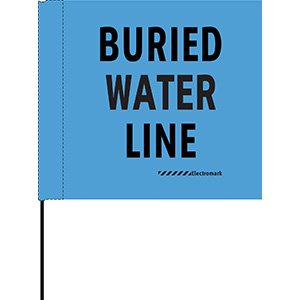 Buried Water Line Flag