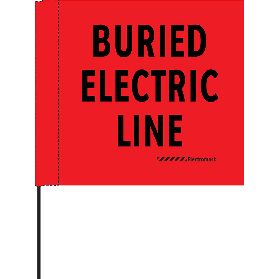 Buried Electric Line Flag