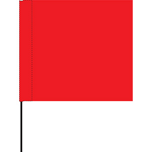 Red Marking Flag
