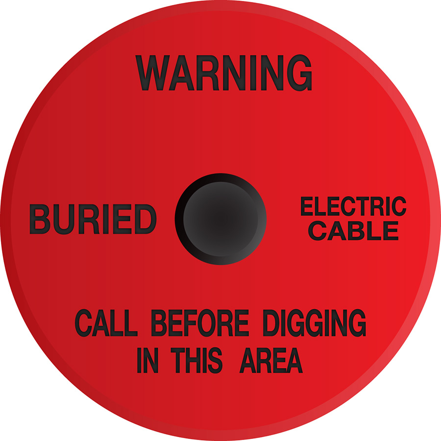 Buried Electric Cable Soil Marker