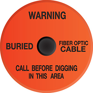 Buried Fiber Optic Cable Soil Marker