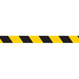 Yellow/Black Demarcation Tape