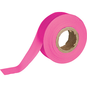 Fluorescent Pink Flagging Tape