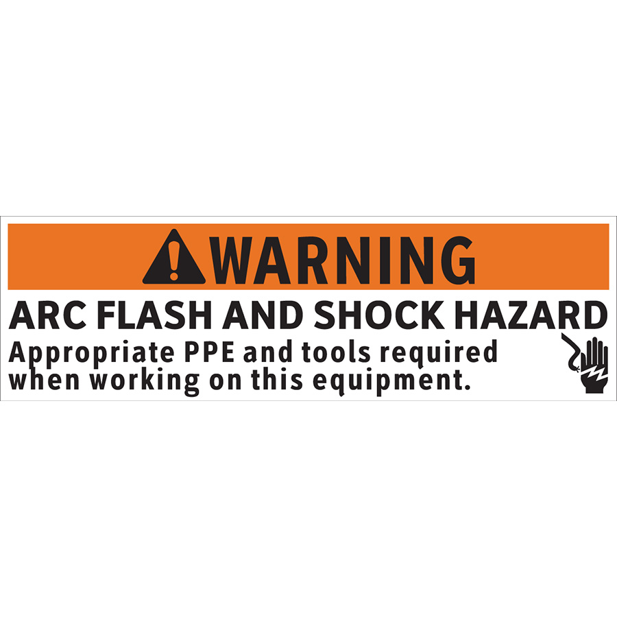 Warning Arc Flash Appropriate PPE and Tools Required Label