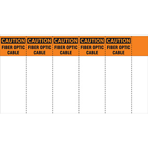 Caution: Fiber Optic Cable Write and Wrap Label Booklet