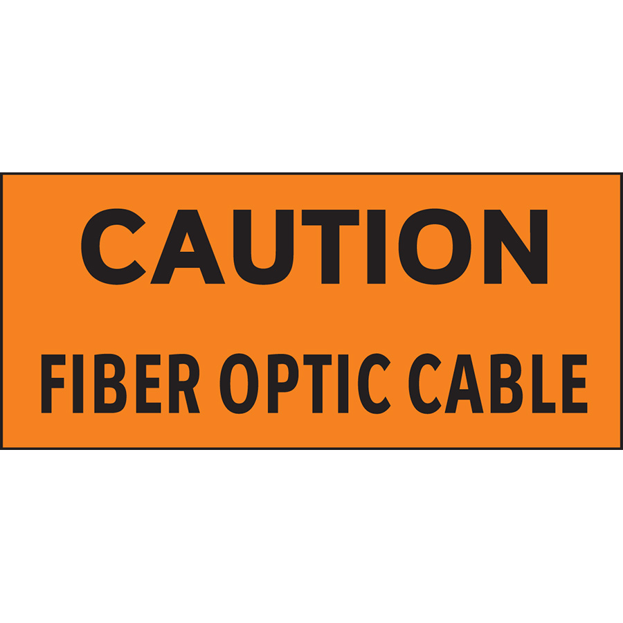 Caution: Fiber Optic Cable Wrap-Around Labels