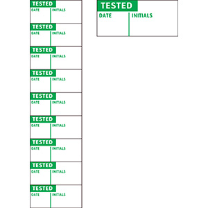 Tested Date Inspection Labels