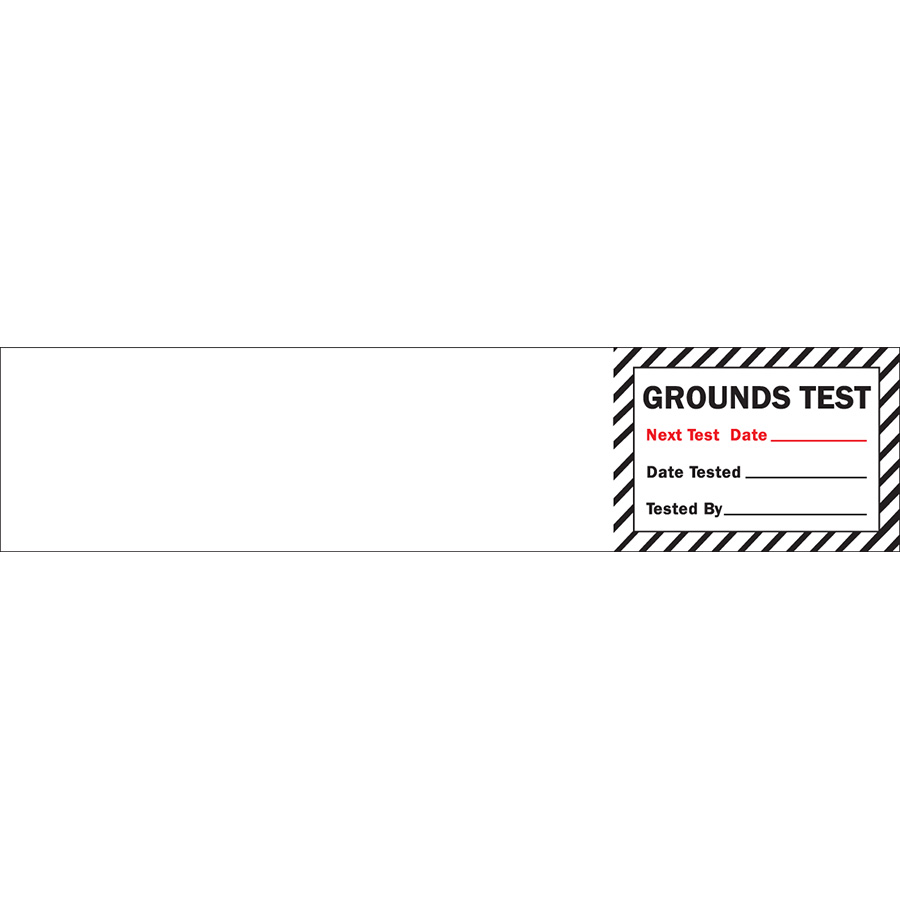 Grounds Test Next Test Date Label