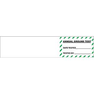 "Annual Ground Test Label  - 1.25""h x 5.5""w"