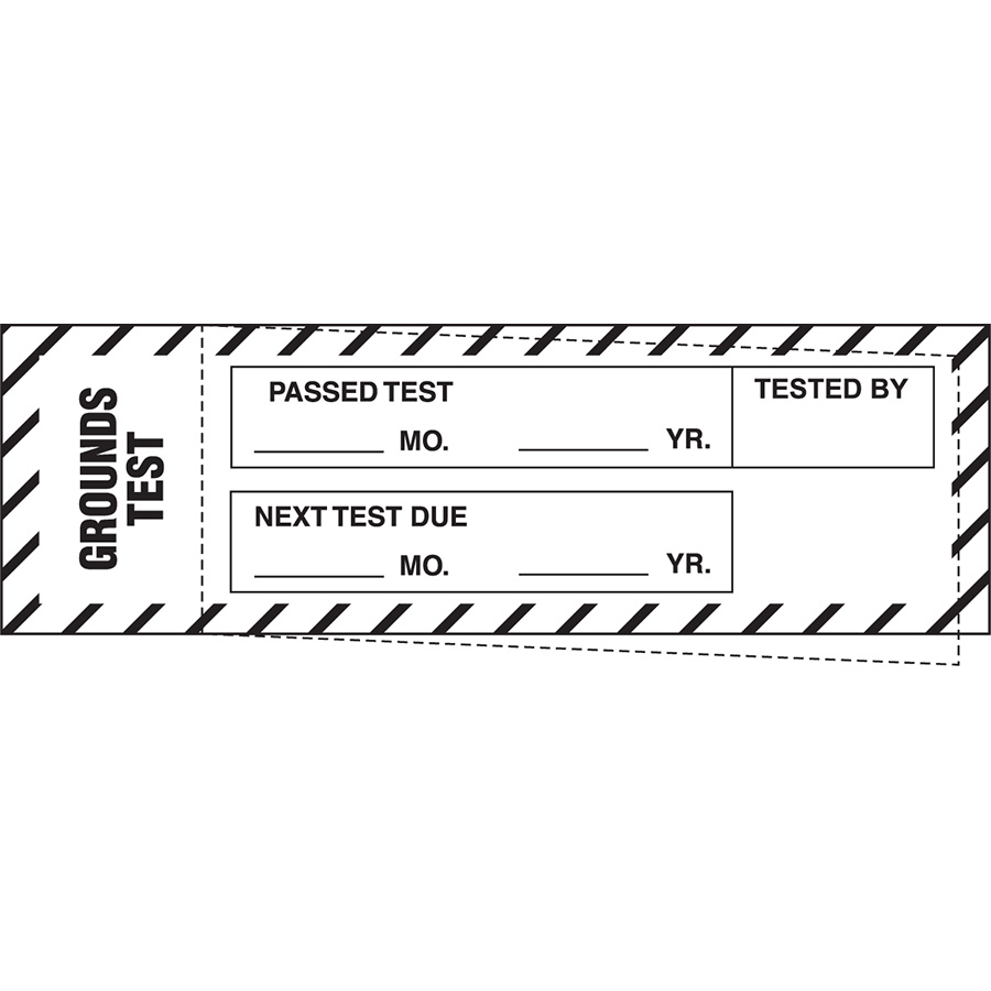 """Grounds Test Passed Test Label - 1.25""""h  x 4""""w"""