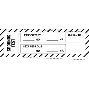 "Grounds Test Passed Test Label - 1.25""h  x 4""w"