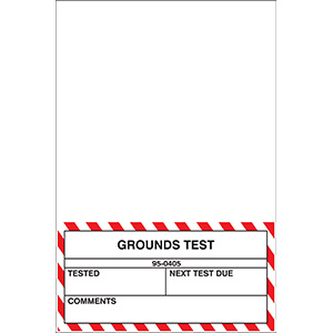 Grounds Test Label