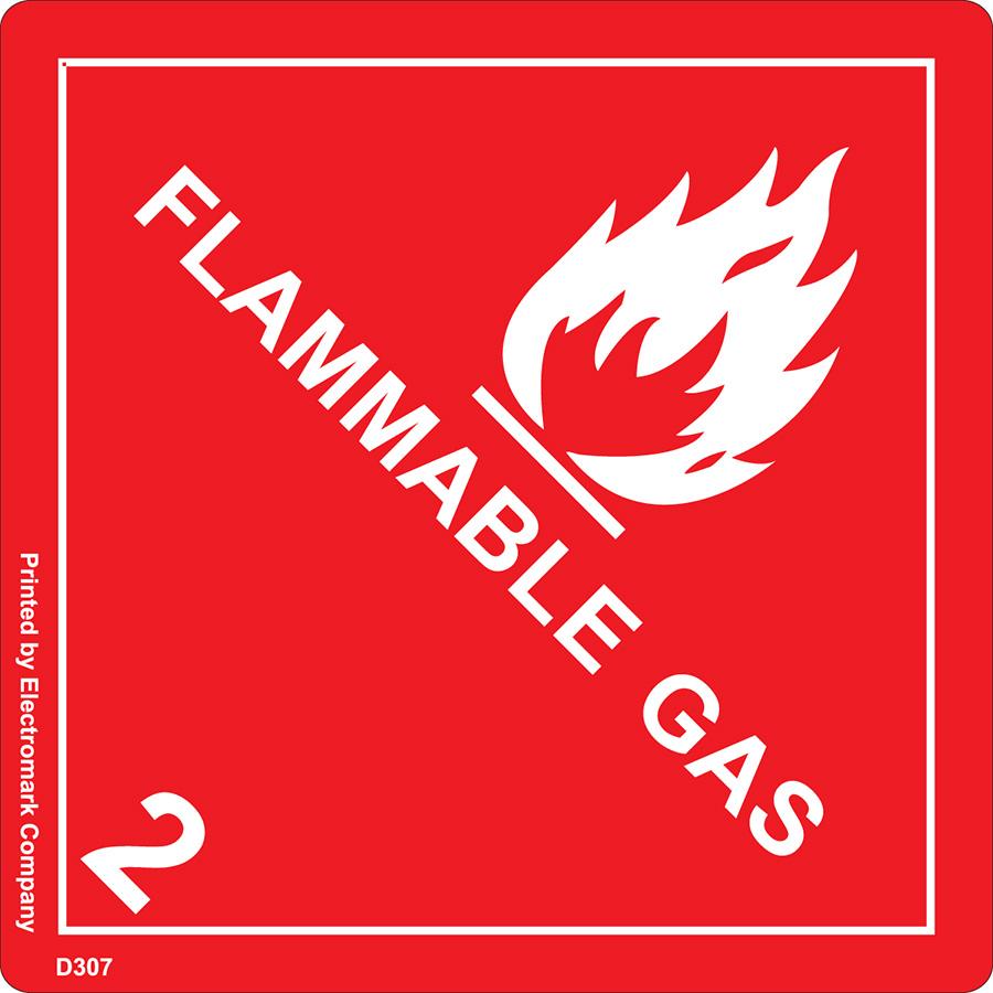 Flammable Gas 2 Fleet Label