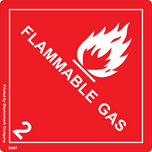Flammable Gas 2 Fleet Label