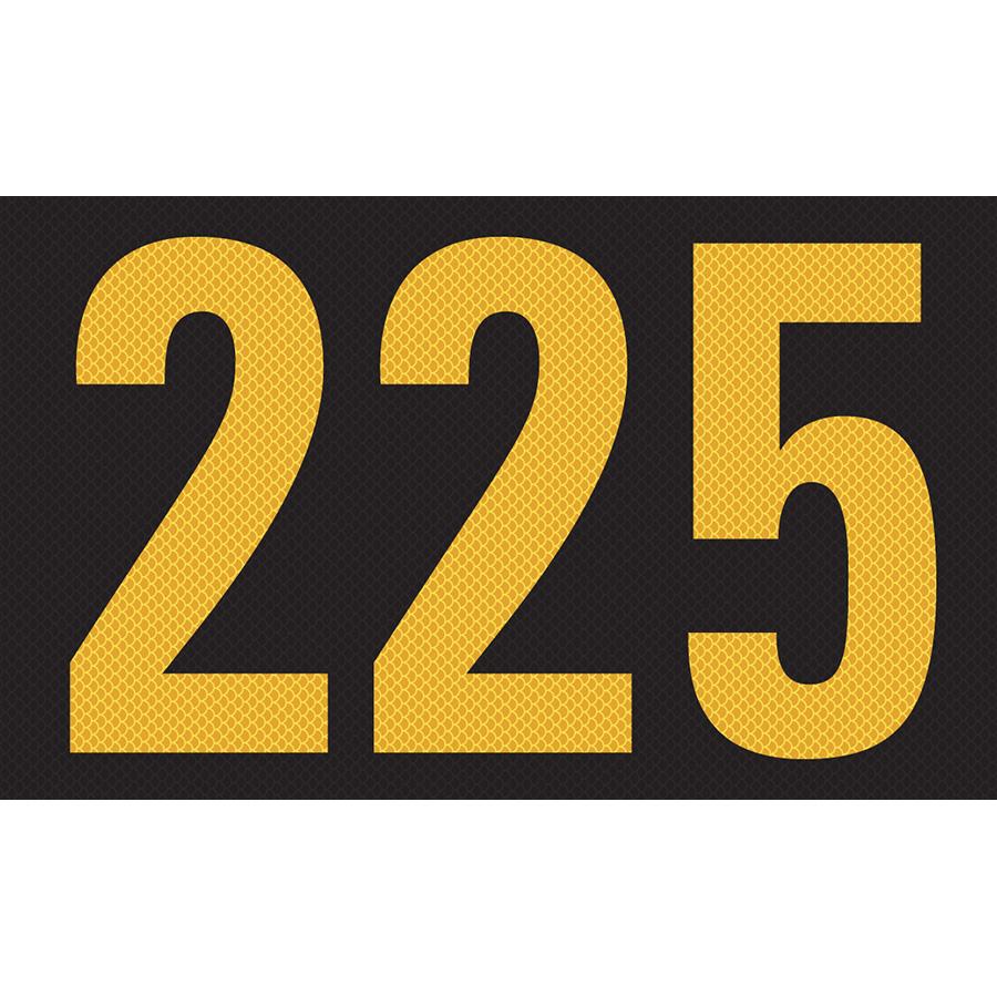 """225""High Intensity Reflective Volt  Marker  - 2.88""h x 4.75""w"