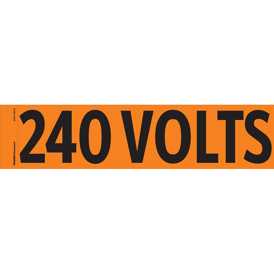 """240 Volts"" Markers"