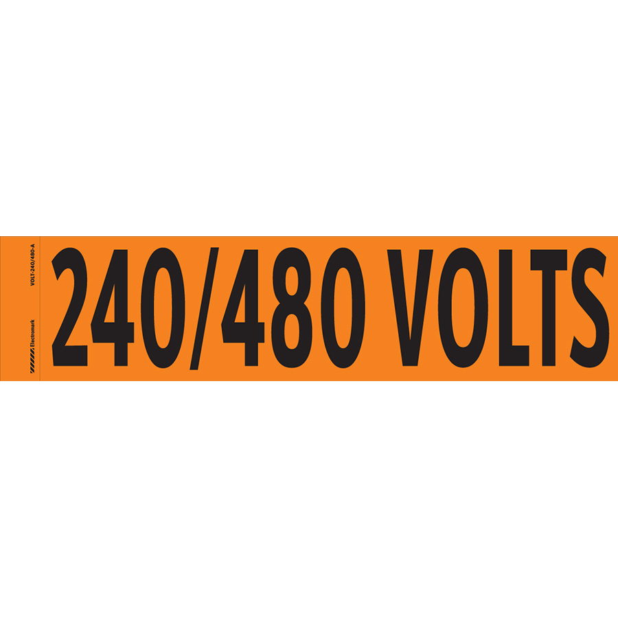 """240/480 Volts"" Markers"