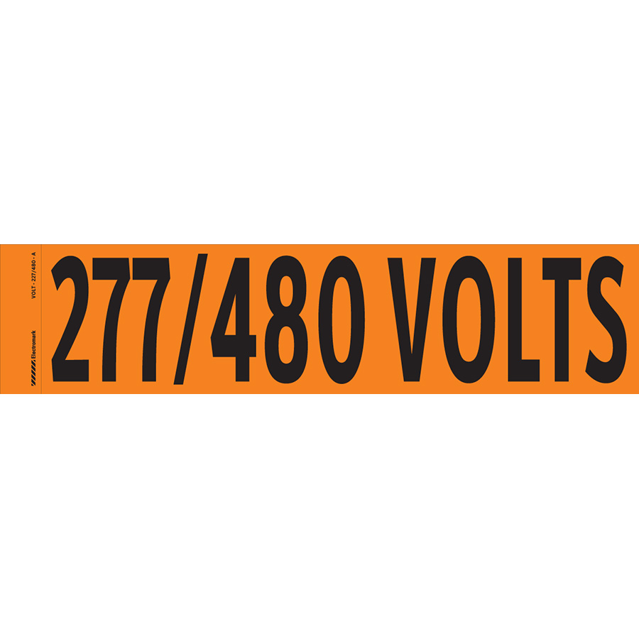 """277/480 Volts"" Markers"
