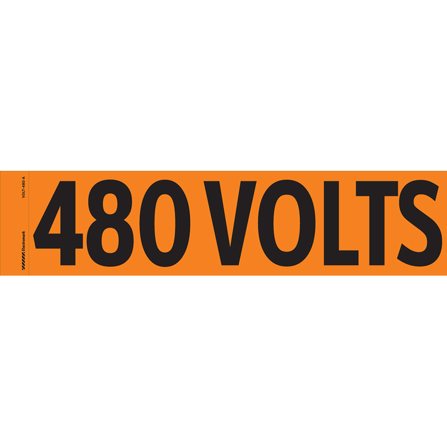 """480 Volts"" Markers"