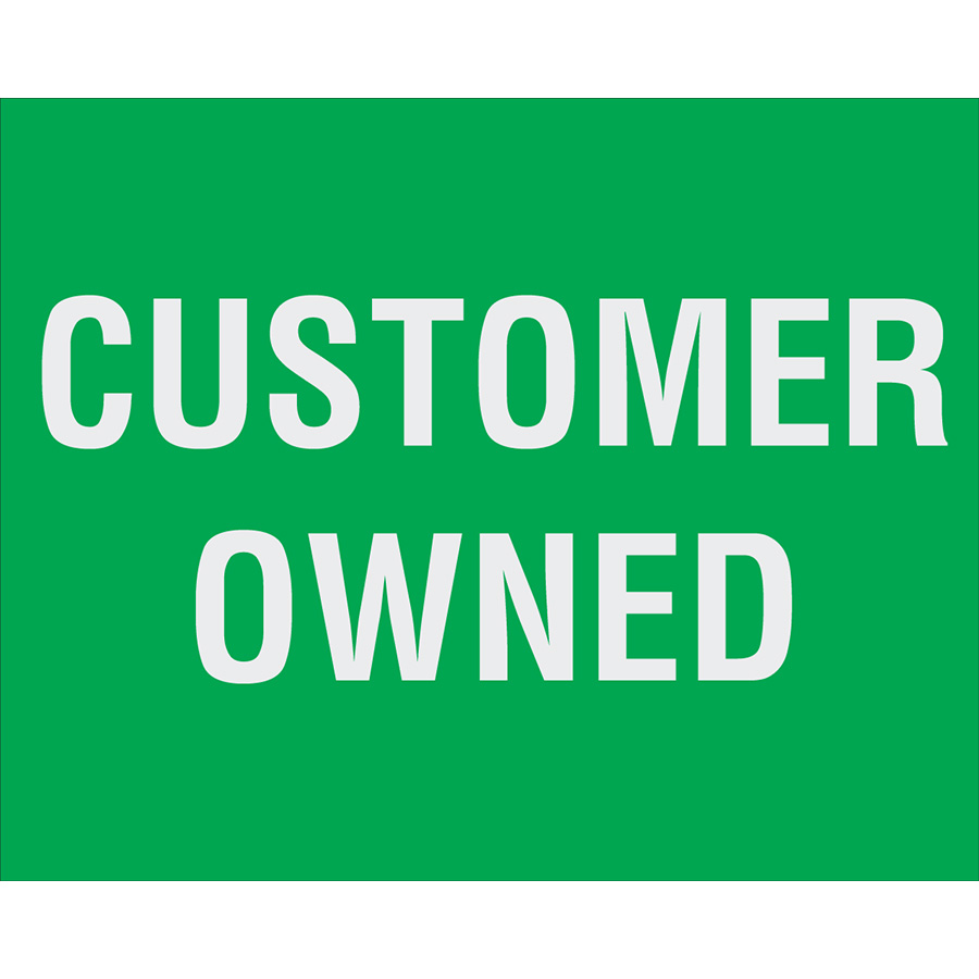 Customer Owned Meter Label
