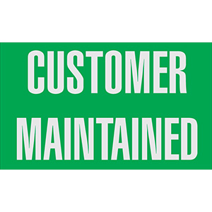 Customer Maintained Meter Label