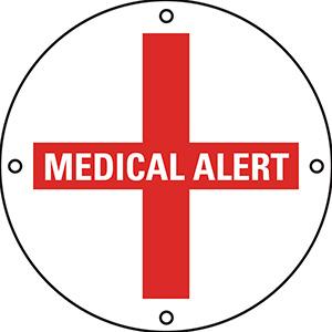 Aluminum Medical Alert Marker
