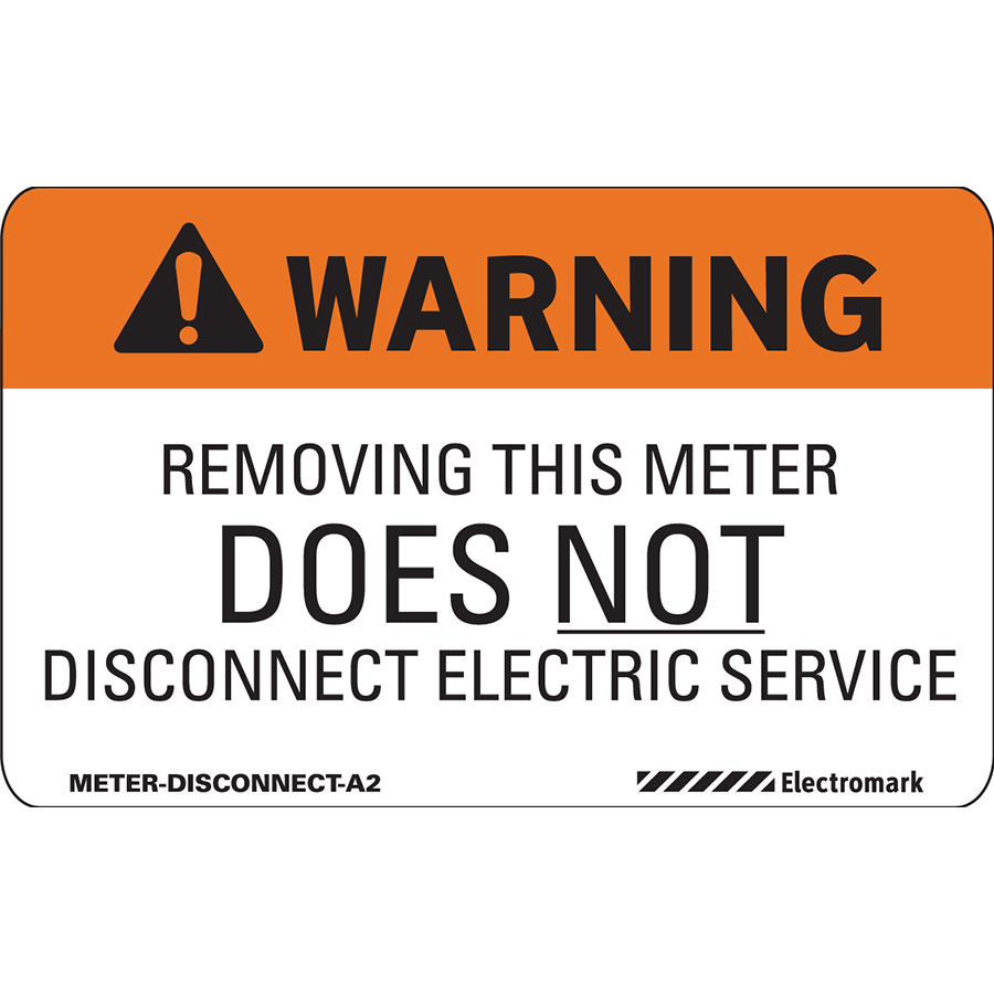 ANSI Warning Removing This Does Not Disconnect Electric Service Label