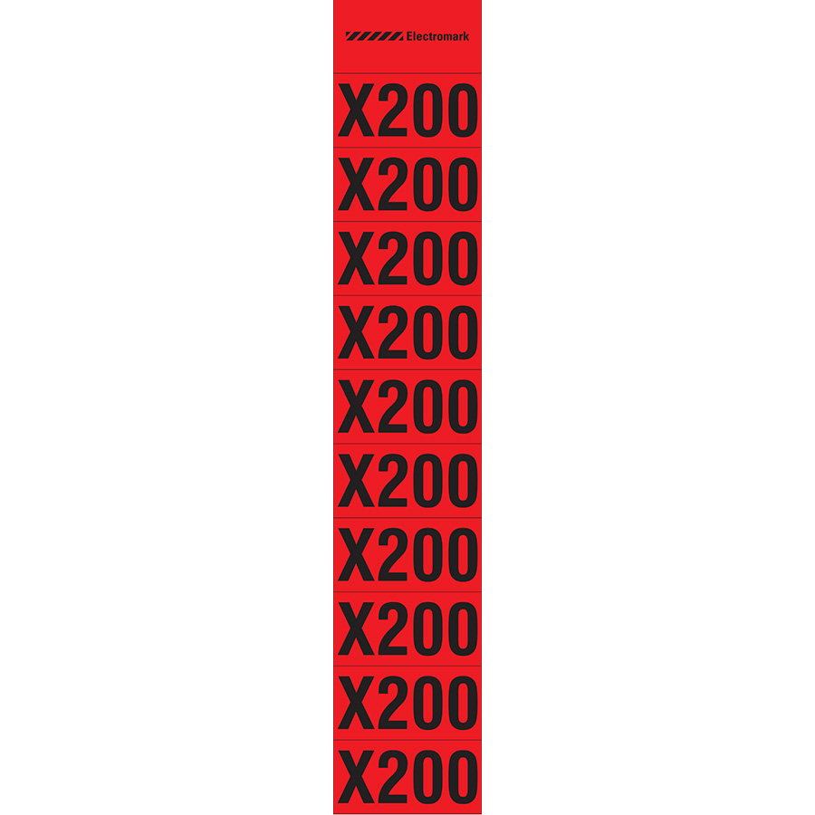 """X200""  Meter Multiplier Label"