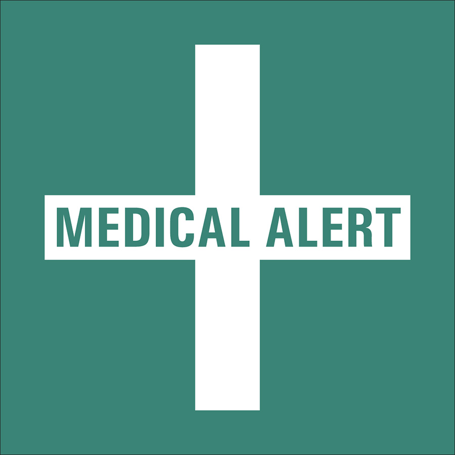 Green Medical Alert Labels