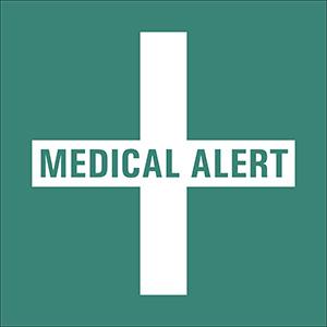 Green Medical Alert Labels