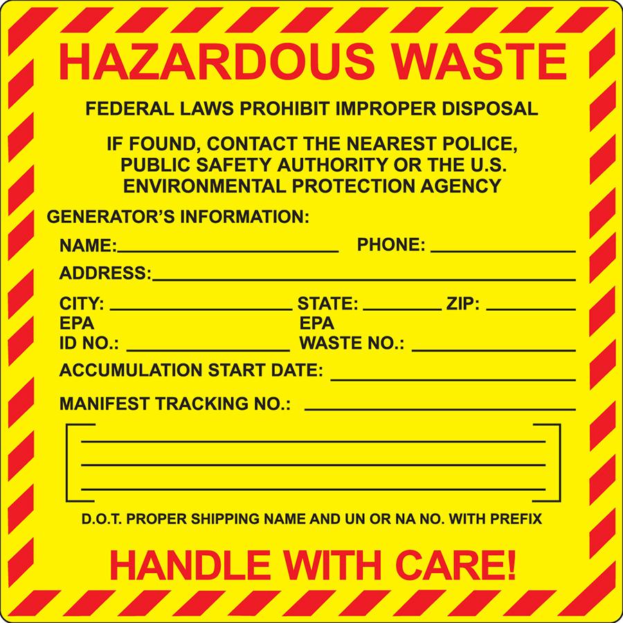 Federal  Hazardous Waste Label