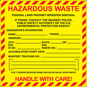 Federal  Hazardous Waste Label