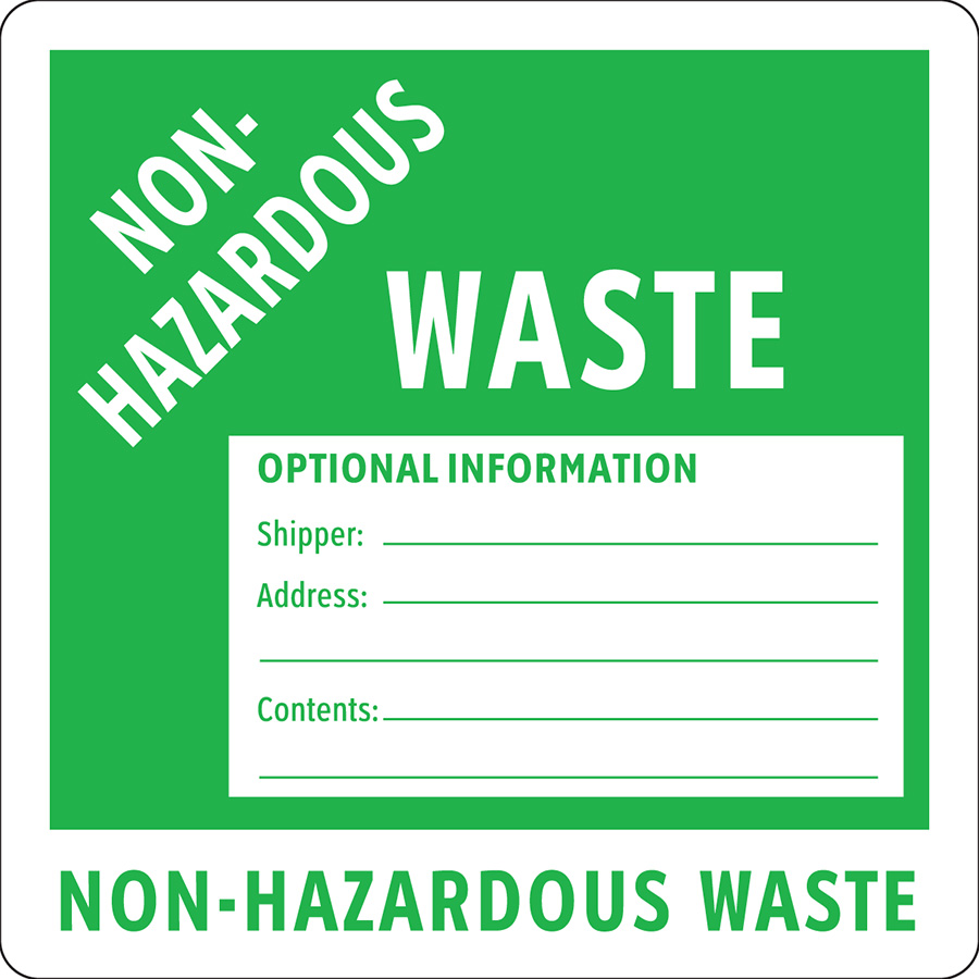 Non-Hazardous Waste Label