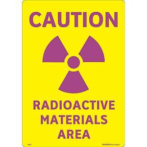 Caution Radioactive Materials Area Label