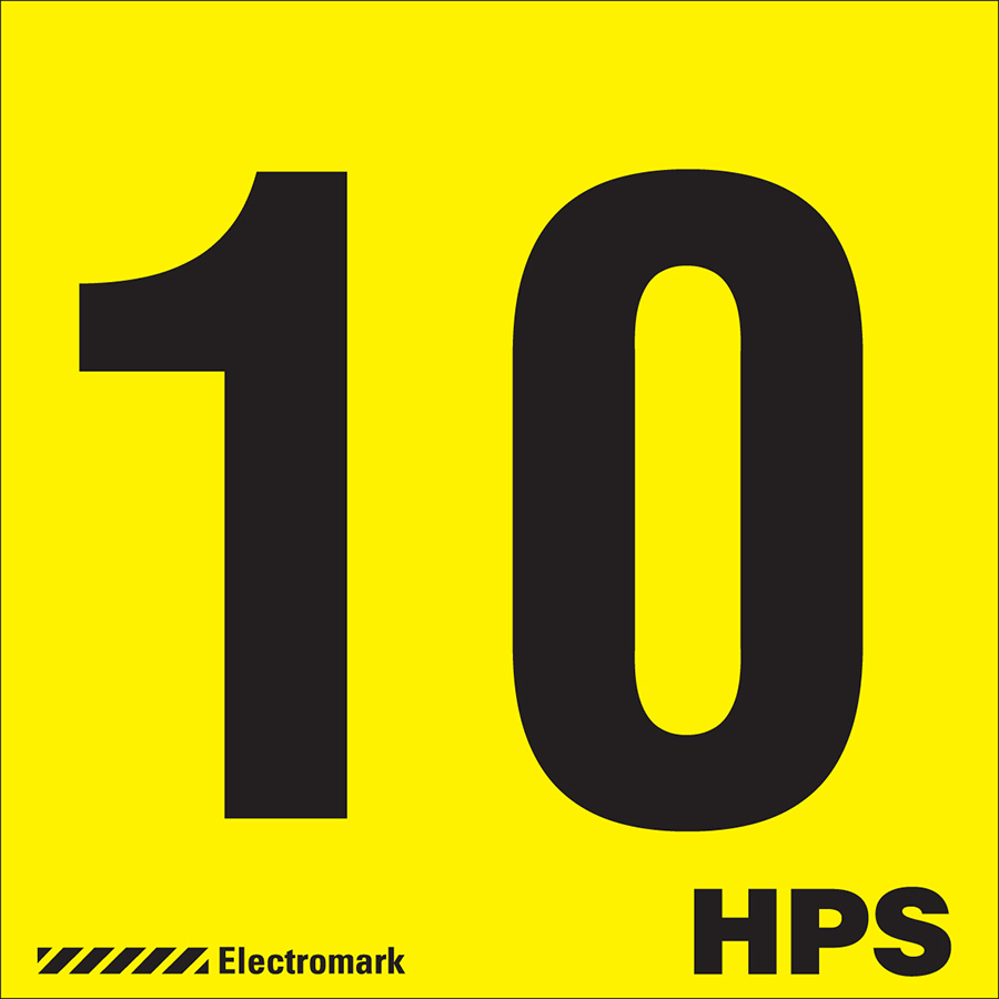 """10 HPS"" Luminaire Label"
