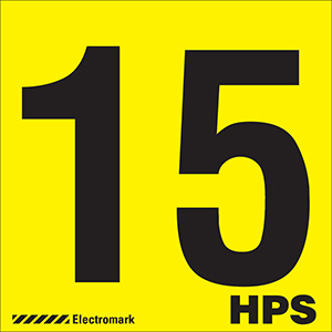 """15 HPS"" Luminaire Label"