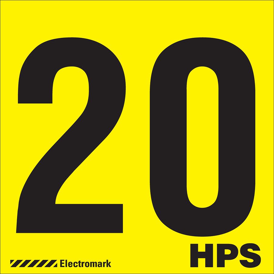 """20 HPS"" Luminaires Label"