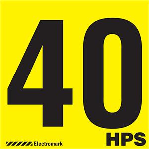 """40 HPS"" Luminaire Label"