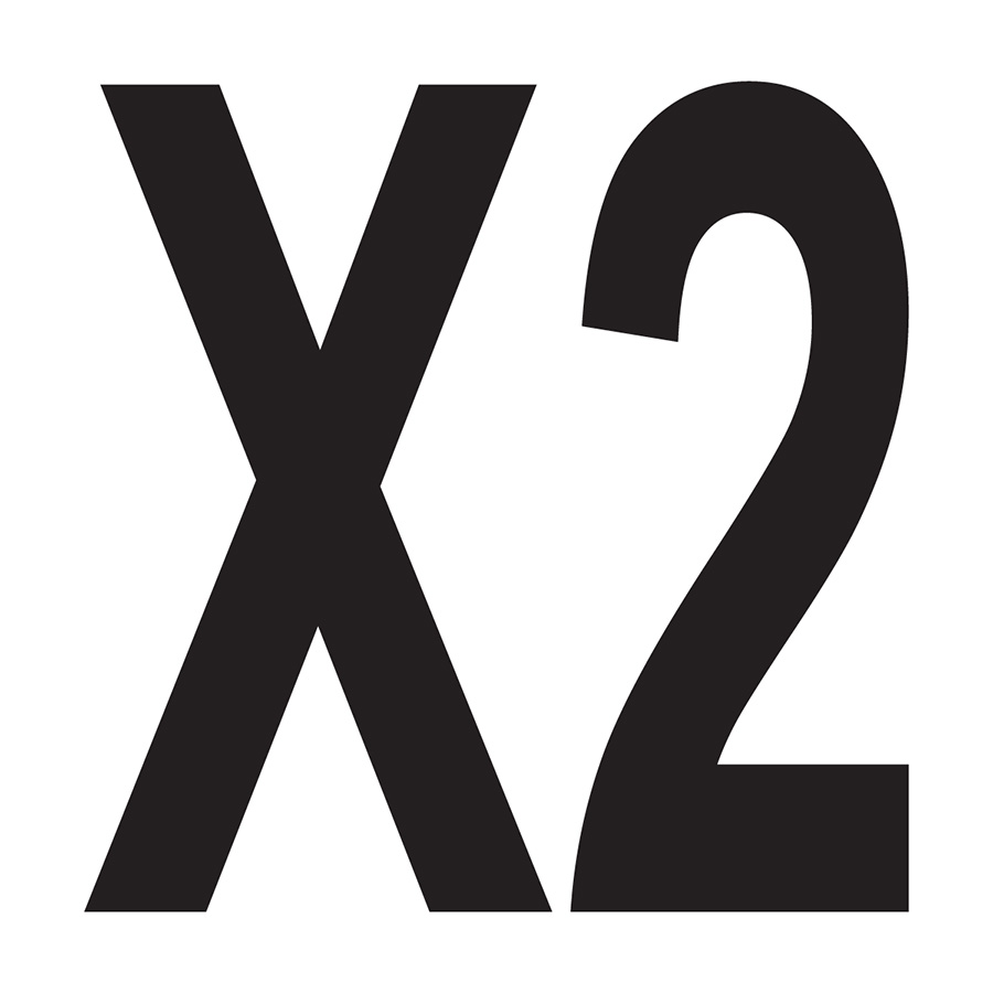 """X2"" Bushing Label"