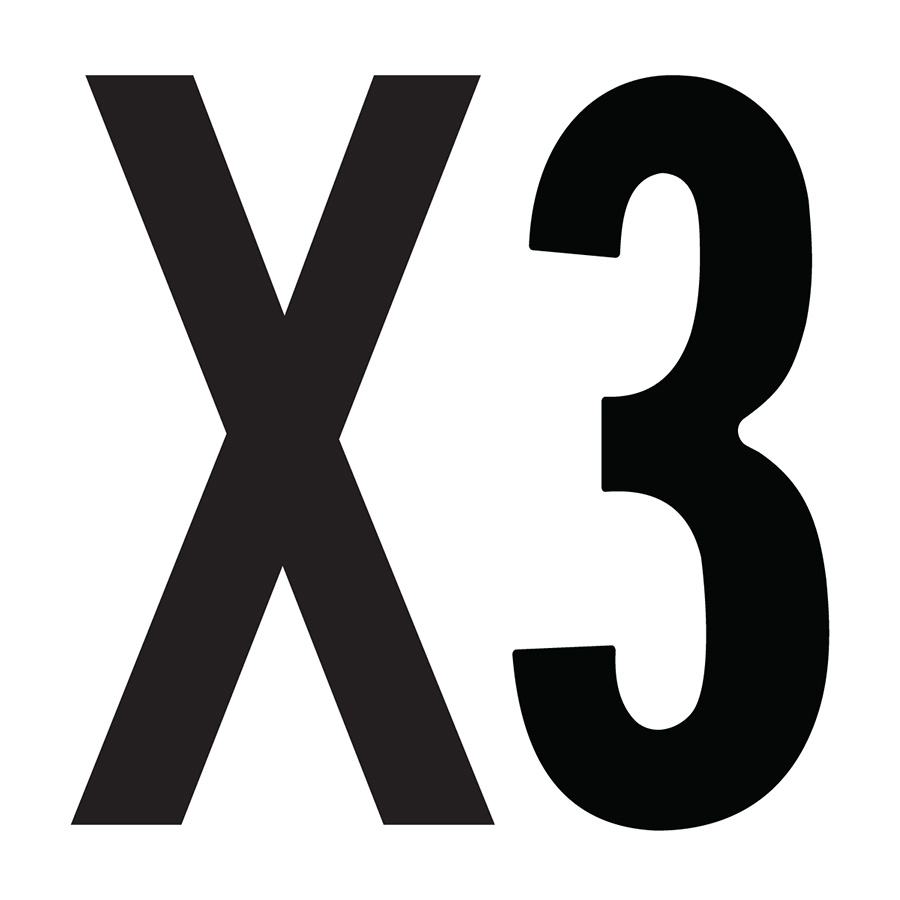 """X3"" Bushing Label"