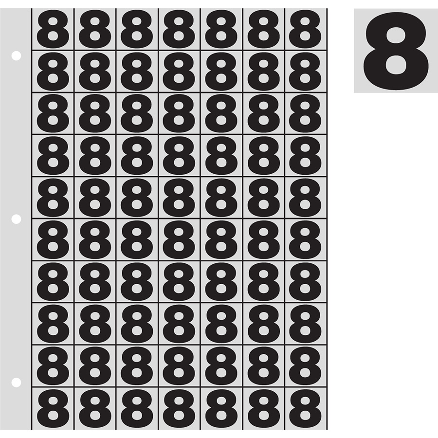 "1"" Black on Silver Engineer Grade Reflective ""8"""