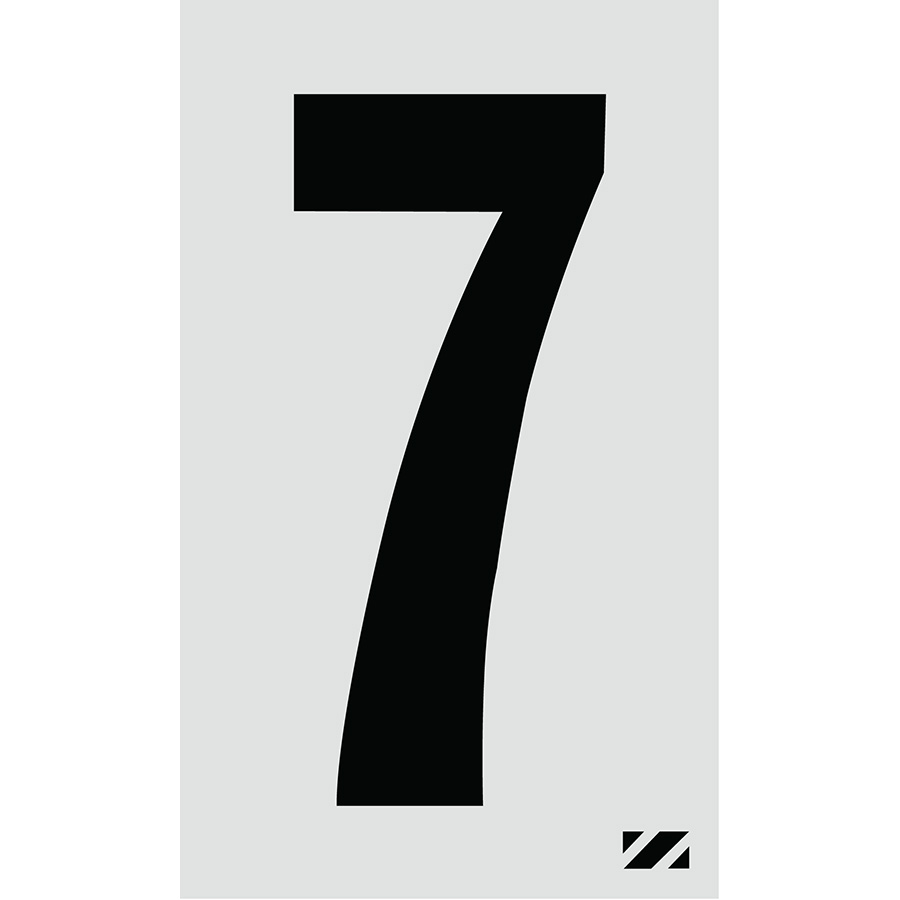 "2"" Black on Silver Engineer Grade Reflective ""7"""