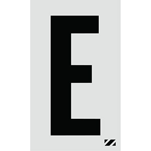 "2"" Black on Silver Engineer Grade Reflective ""E"""