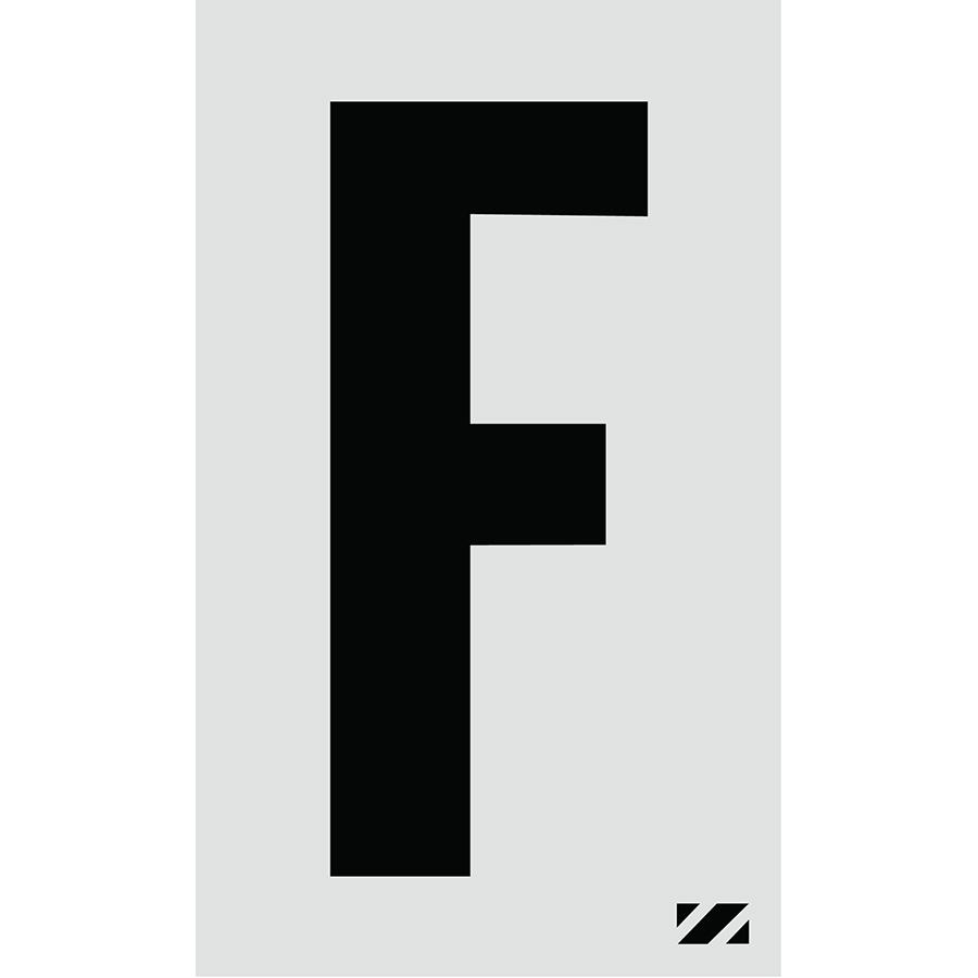 "2"" Black on Silver Engineer Grade Reflective ""F"""