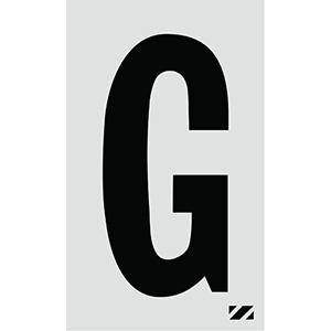 "2"" Black on Silver Engineer Grade Reflective ""G"""