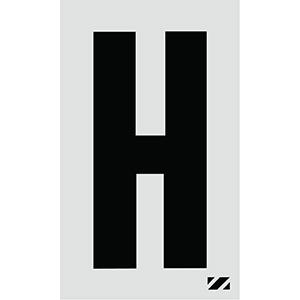 "2"" Black on Silver Engineer Grade Reflective ""H"""